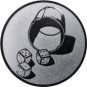 Emblem 50mm Würfelbecher, silber