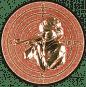 Emblem 50mm Zeilsch. Schütze Gewehr 3D, bronze schießen