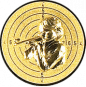 Emblem 25mm Zeilsch. Schütze Gewehr 3D, gold schießen