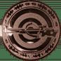 Emblem 50mm Zielsch. mit Armbrust, bronze schießen
