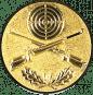Emblem 50mm Zielsch. mit Gewehren0 u. Eichenlaub, gold schießen