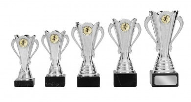 Pokale mit Henkel 5er Serie S126 silber