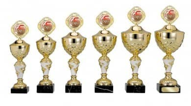 SALE: Pokale 6er Serie S383 gold/weiß