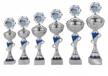 Sale: Pokale 6er Serie S417 silber/blau