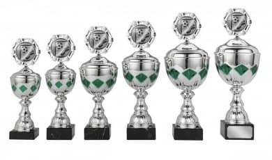 Pokale 6er Serie S422 silber/grün