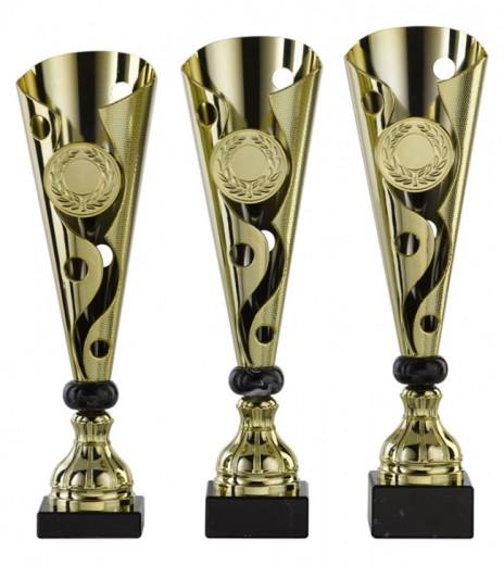 SALE: Pokale 3er Serie S462 gold/schwarz 35cm