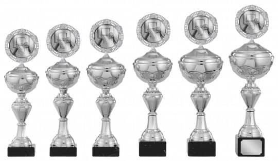 Pokale 6er Serie S142 silber 26 cm