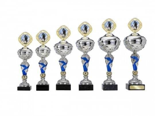 Pokale 6er Serie S401 gold/silber/blau 30cm