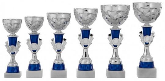 Pokale 6er Serie S437 silber/blau 24 cm
