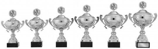 Pokale mit Henkel 6er Serie S867 silber 34cm