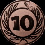 Emblem 50 mm Ehrenkranz mit 10, bronze