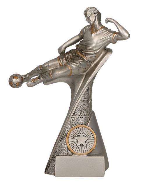 """Fußballer """"Im Flug"""" 3er Serie TRY-RP500 silber gold 17,5 cm"""