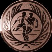 Emblem 25mm 2 Fußballer m. Ehrenkranz, bronze