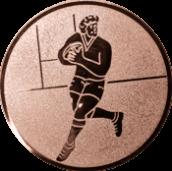 Emblem 25mm Footballer, bronze