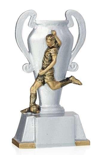 Fußballer mit Pokal FS16907