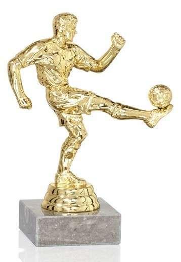 Fußballer Figur 3er Serie FS84 14cm gold