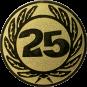 Emblem 25 mm Ehrenkranz mit 25, gold