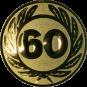 Emblem 25 mm Ehrenkranz mit 60, gold