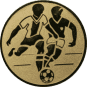 Emblem 25mm 2 Fußballer, gold