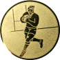 Emblem 25mm Footballer, gold