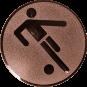Emblem 25mm Fußballer Symbol, bronze