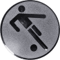 Emblem 25mm Fußballer Symbol, silber