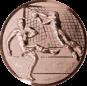 Emblem 25mm Fußballer, Torwart, Tor, 3D, bronze