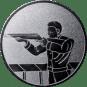 Emblem 25mm Gewehrschütze links, silber schießen