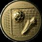 Emblem 25mm Tor, Fußball, Schuh, 3D, gold