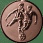 Emblem 50mm 2 Fußballer 3D, bronze