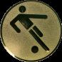 Emblem 50mm Fußballer Symbol, gold