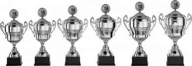 Pokale mit Henkel 6er Serie S918 silber