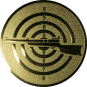Emblem 50mm Zielsch. mit Gewehr links, gold schießen