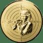 Emblem 50mm Zielsch. Schütze Gewehr 3D, gold schießen