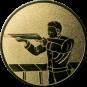 Emblem 50mm Gewehrschütze links, gold schießen