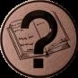 Emblem 25 mm Buch, bronze
