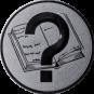 Emblem 25 mm Buch, silber
