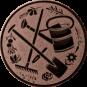 Emblem 25 mm Garten, bronze
