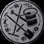 Emblem 25 mm Garten, silber