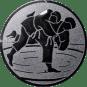Emblem 25 mm Judo, silber