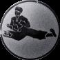 Emblem 25 mm Karatekämpfer, silber