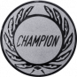 Emblem 25 mm Kranz CHAMPION, silber