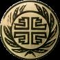 Emblem 25 mm  Kranz Frisch From Fröhlich Frei, gold