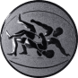 Emblem 25 mm Ringen, silber