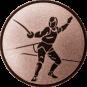 Emblem 25 mm Säbelfechten, bronze