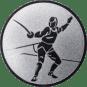 Emblem 25 mm Säbelfechten, silber