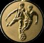 Emblem 25mm 2 Fußballer 3D, gold