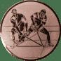 Emblem 25mm 2 Hockeyspieler, bronze
