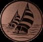 Emblem 25mm 2 Segelboote, bronze