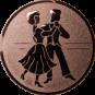 Emblem 25mm 2 Tänzer, bronze